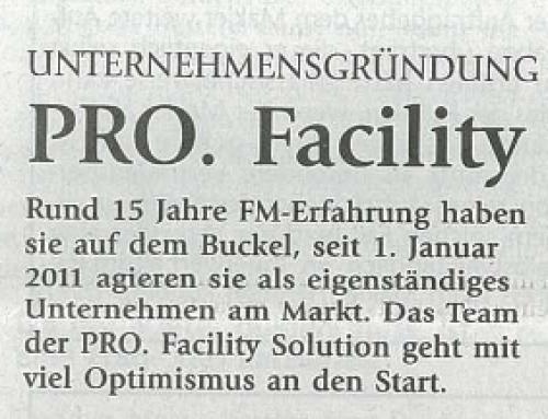 Immobilienzeitung – PRO. Facility Solution geht ins Rennen